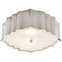 Visual Comfort AH4025PN-FG Alexa Hampton Balthazar 3 Light 14 inch Polished Nickel Flush Mount Ceiling Light photo thumbnail
