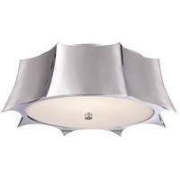 Alexa Hampton Peter 2 Light 16 inch Polished Nickel Flush Mount Ceiling Light