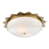 Visual Comfort Alexa Hampton Rachel 2 Light Flush Mount in Natural Brass AH4030NB-WG