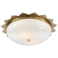 Alexa Hampton Rachel 2 Light 18 inch Natural Brass Flush Mount Ceiling Light