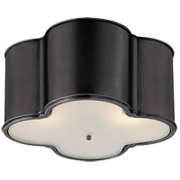Alexa Hampton Basil 3 Light 24 inch Gun Metal Flush Mount Ceiling Light