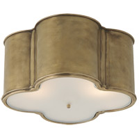 Alexa Hampton Basil 3 Light 24 inch Natural Brass Flush Mount Ceiling Light, Alexa Hampton, Large, Frosted Acrylic Shade
