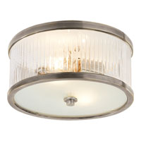 Visual Comfort Alexa Hampton Randolph 2 Light Flush Mount in Antique Nickel AH4200AN-FG