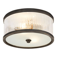 Visual Comfort Alexa Hampton Randolph 2 Light Flush Mount in Bronze with Wax AH4200BZ-FG