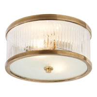 Visual Comfort Alexa Hampton Randolph 2 Light Flush Mount in Hand-Rubbed Antique Brass AH4200HAB-FG