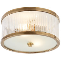Alexa Hampton Randolph 2 Light 11 inch Hand-Rubbed Antique Brass Flush Mount Ceiling Light