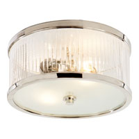 Visual Comfort Alexa Hampton Randolph 2 Light Flush Mount in Polished Nickel AH4200PN-FG