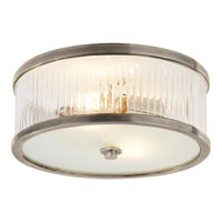 Visual Comfort Alexa Hampton Randolph 2 Light Flush Mount in Antique Nickel AH4201AN-FG