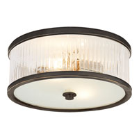 Visual Comfort Alexa Hampton Randolph 2 Light Flush Mount in Bronze with Wax AH4201BZ-FG