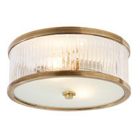 Visual Comfort Alexa Hampton Randolph 2 Light Flush Mount in Hand-Rubbed Antique Brass AH4201HAB-FG