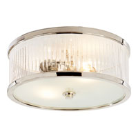 Visual Comfort Alexa Hampton Randolph 2 Light Flush Mount in Polished Nickel AH4201PN-FG