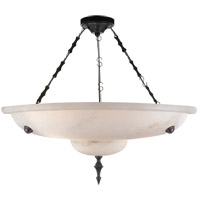 Visual Comfort Alexa Hampton Charles 3 Light Chandelier in Alabaster Natural Stone AH5000ALB
