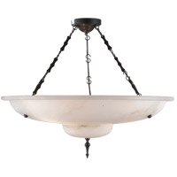 Visual Comfort Alexa Hampton Charles 3 Light Pendant in Alabaster Natural Stone AH5002ALB