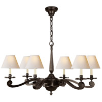 Alexa Hampton Myrna 6 Light 33 inch Gun Metal Chandelier Ceiling Light