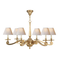 Visual Comfort Alexa Hampton Myrna 6 Light Chandelier in Natural Brass AH5010NB-NP