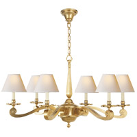 Visual Comfort AH5010NB-NP Alexa Hampton Myrna 6 Light 33 inch Natural Brass Chandelier Ceiling Light photo thumbnail