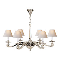 Alexa Hampton Myrna 6 Light 33 inch Polished Nickel Chandelier Ceiling Light