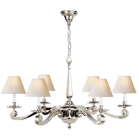 Visual Comfort AH5010PN-NP Alexa Hampton Myrna 6 Light 33 inch Polished Nickel Chandelier Ceiling Light