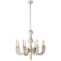Visual Comfort Alexa Hampton Dexter 8 Light Chandelier in Belgian White  AH5025BW