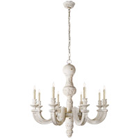 Visual Comfort Alexa Hampton Dexter 8 Light Chandelier in Belgian White  AH5026BW