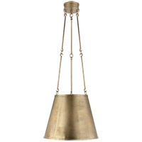 Alexa Hampton Lily 3 Light 15 inch Natural Brass Hanging Shade Ceiling Light