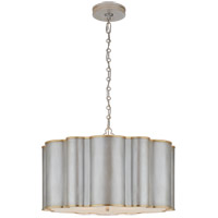 Alexa Hampton Markos 4 Light 26 inch Burnished Silver Leaf with Gild Pendant Ceiling Light, Large