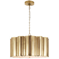 Visual Comfort Alexa Hampton Markos 2 Light Pendant in Natural Brass AH5215NB