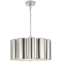 Alexa Hampton Markos 4 Light 26 inch Polished Nickel Pendant Ceiling Light