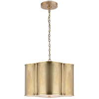 Alexa Hampton Basil 2 Light 19 inch Natural Brass Hanging Shade Ceiling Light