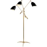 Visual Comfort ARN1009HAB-BLK AERIN Sommerard 60 inch 60 watt Brass with Black Triple Arm Floor Lamp Portable Light