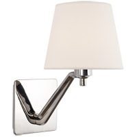 Visual Comfort ARN2004PN-L AERIN Union 1 Light 7 inch Polished Nickel Single Arm Sconce Wall Light in Linen