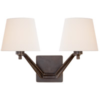 Visual Comfort ARN2005BZ-L AERIN Union 2 Light 18 inch Bronze Double Arm Sconce Wall Light