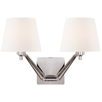 Visual Comfort ARN2005PN-WG AERIN Union 2 Light 18 inch Polished Nickel Double Arm Sconce Wall Light