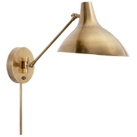 Visual Comfort ARN2006HAB AERIN Charlton 1 Light 9 inch Hand-Rubbed Antique Brass Wall Light