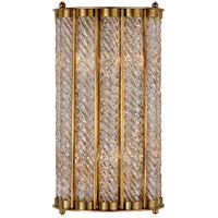 Visual Comfort ARN2026HAB AERIN Eaton 2 Light 8 inch Hand-Rubbed Antique Brass Sconce Wall Light
