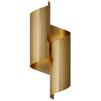 Visual Comfort ARN2065HAB AERIN Iva 2 Light 7 inch Hand-Rubbed Antique Brass Wrapped Sconce Wall Light Medium