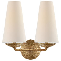 Visual Comfort ARN2202GP-L AERIN Fontaine 2 Light 13 inch Gilded Plaster Double Sconce Wall Light