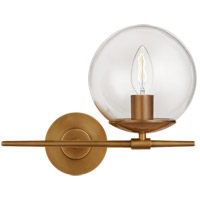 Visual Comfort ARN2255HAB-CG AERIN Turenne 1 Light 13 inch Hand-Rubbed Antique Brass Sconce Wall Light Small