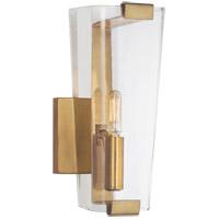 Visual Comfort ARN2309HAB-CG AERIN Alpine 1 Light 5 inch Hand-Rubbed Antique Brass Single Sconce Wall Light, Small