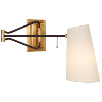 Visual Comfort ARN2650HAB/BLK-L AERIN Keil 29 inch 40 watt Hand-Rubbed Antique Brass and Black Swing Arm Wall Light