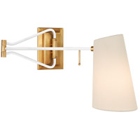Visual Comfort ARN2650HAB/WHT-L AERIN Keil 29 inch 40 watt Hand-Rubbed Antique Brass and White Swing Arm Wall Light