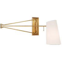 Visual Comfort ARN2651HAB-L AERIN Keil 51 inch 60 watt Hand-Rubbed Antique Brass Swing Arm Wall Light Large