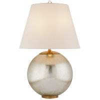 Visual Comfort ARN3000BSL-L AERIN Morton 25 inch 100 watt Burnished Silver Leaf Table Lamp Portable Light