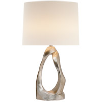 Burnished Silver Leaf Table Lamps