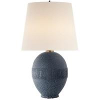 Visual Comfort ARN3655BLB-L AERIN Toulon 27 inch 75 watt Beaded Blue Porcelain Table Lamp Portable Light