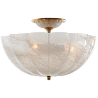 Visual Comfort ARN4000HAB-WG AERIN Rosehill 3 Light 16 inch Hand-Rubbed Antique Brass Semi-Flush Mount Ceiling Light