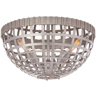 Visual Comfort ARN4003BSL AERIN Mill 3 Light 15 inch Burnished Silver Leaf Flush Mount Ceiling Light Small