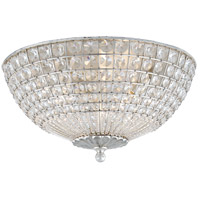 Visual Comfort ARN4004BSL-CG AERIN Renwick 3 Light 17 inch Burnished Silver Leaf Flush Mount Ceiling Light