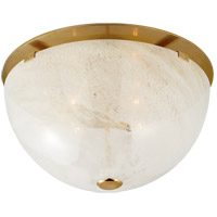 Visual Comfort ARN4009HAB-WG AERIN Serein 3 Light 14 inch Hand-Rubbed Antique Brass Flush Mount Ceiling Light Medium
