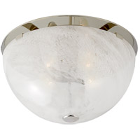 Visual Comfort ARN4009PN-WG AERIN Serein 3 Light 14 inch Polished Nickel Flush Mount Ceiling Light Medium